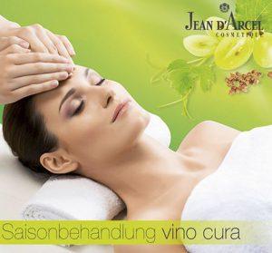 Die neue JEAN D'ARCEL Saisonbehandlung vino cura überzeugt mit Beauty-Power aus der Traube.